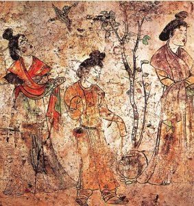 Kiinalainen seinämaalaus.